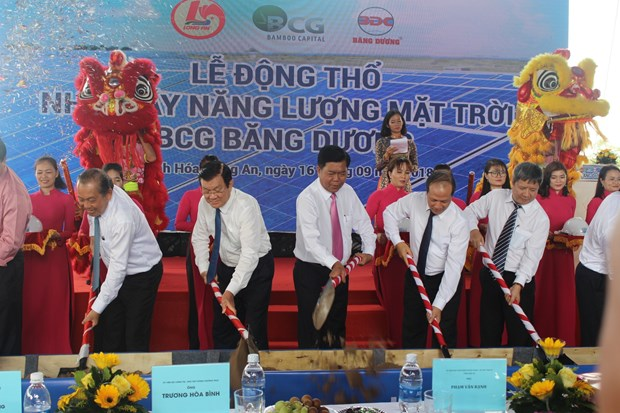 Long An has first solar power project hinh anh 1