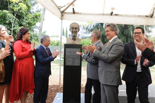 Bust of President Ho Chi Minh inaugurated in Mexico hinh anh 1