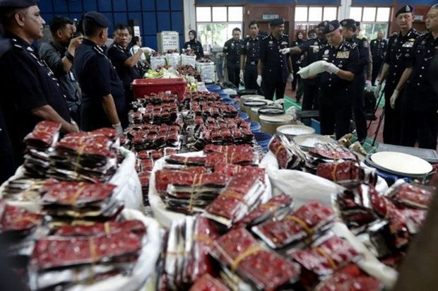 Malaysia seizes drugs worth 17.5 million USD hinh anh 1