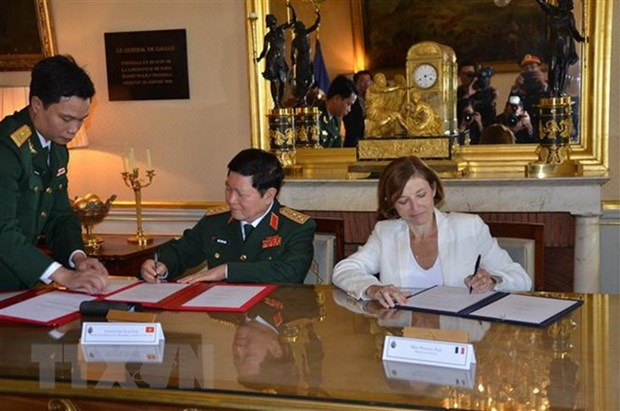 Vietnam, France sign joint vision statement on defence cooperation hinh anh 1