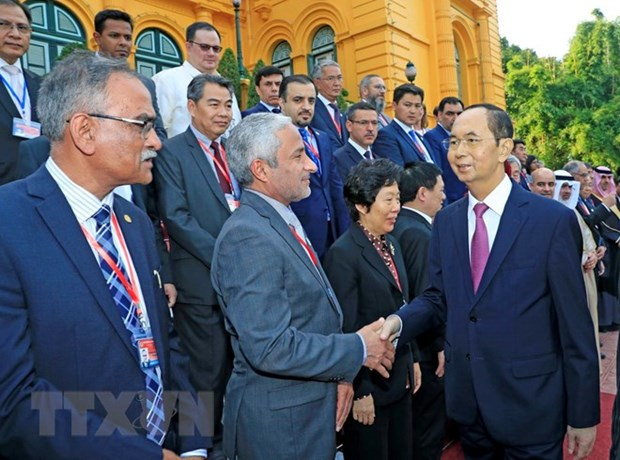 President Tran Dai Quang welcomes heads of delegations to ASOSAI 14 hinh anh 1