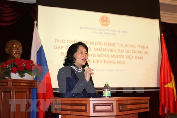 Vice President meets overseas Vietnamese in Russia hinh anh 1
