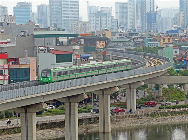 Cat Linh-Ha Dong elevated railway starts trial run hinh anh 1