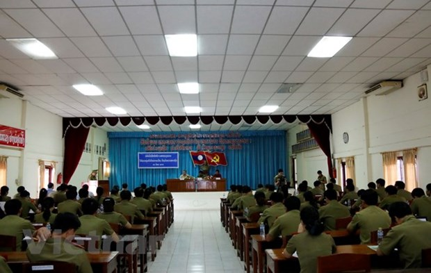 Vietnamese language class for Lao officials opens hinh anh 1