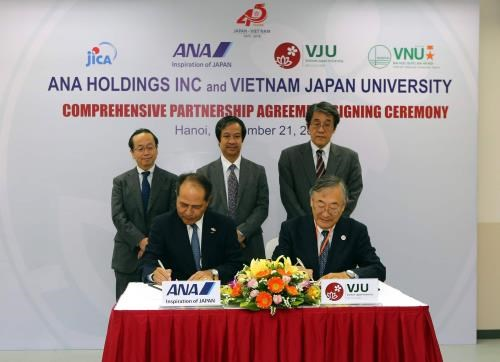 Vietnam-Japan University signs cooperation deal with Japanese group hinh anh 1