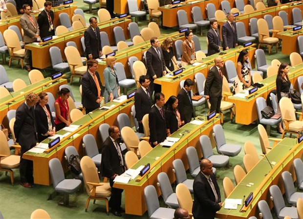 UN General Assembly hold minute's silence to remember President Tran Dai Quang hinh anh 1