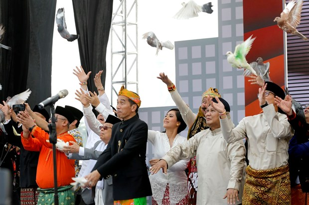 Indonesia begins presidential election campaign hinh anh 1