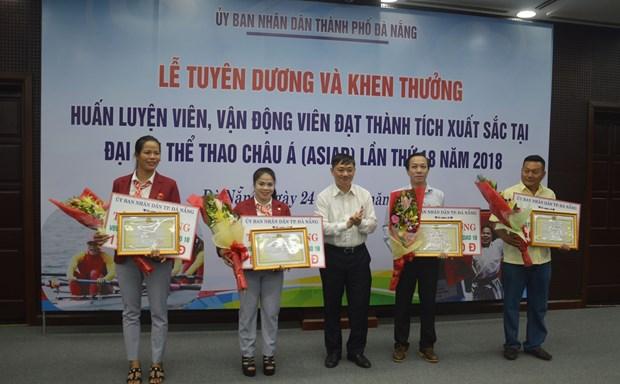 Da Nang rewards outstanding athletes at ASIAD 2018 hinh anh 1