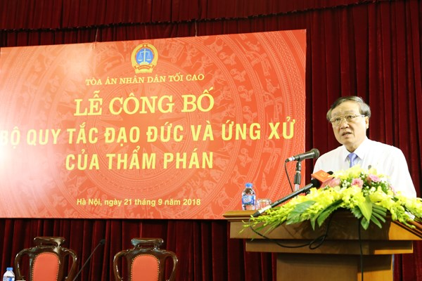 Code of Professional Ethics and Conduct for Judges announced hinh anh 1