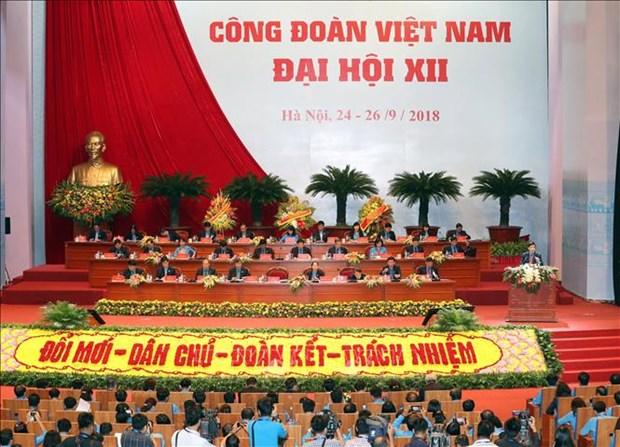 12th Vietnam trade union congress kicks off in Hanoi hinh anh 1