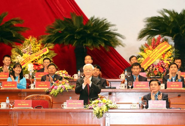 Party, State leaders attend 12th congress of Vietnamese trade unions hinh anh 1