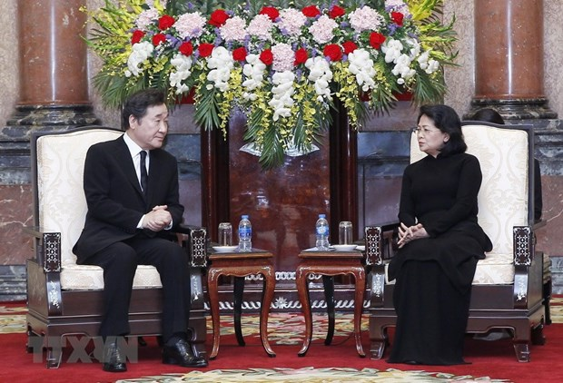 Acting President receives RoK Prime Minister hinh anh 1