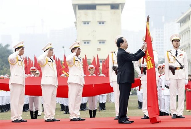 President Tran Dai Quang and the cause of protection of security, social order hinh anh 1