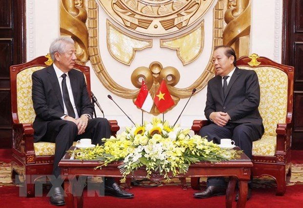 Deputy PM hosts Singaporean counterpart in Hanoi hinh anh 1
