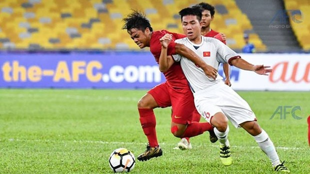 Vietnam draw with Indonesia at AFC U16 Champs hinh anh 1