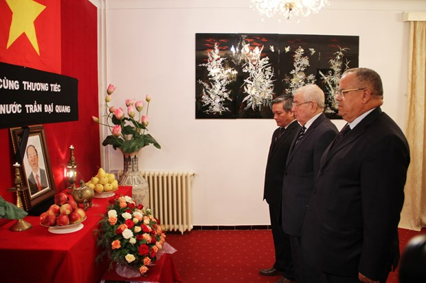 Foreign officials, diplomats in Africa pay tribute to President Quang hinh anh 1