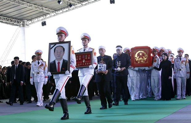 President Tran Dai Quang laid to rest in his hometown hinh anh 1