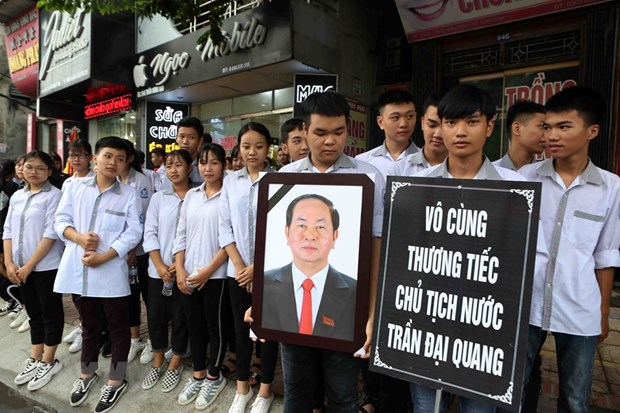 President Tran Dai Quang in people's heart hinh anh 1