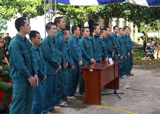 Rioters in Binh Thuan receive jail sentences hinh anh 1