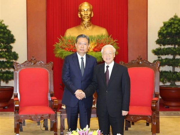Party leader hails growing Vietnam-China relations hinh anh 1