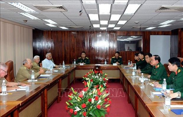 Vietnam, Cuba's armies enhance economic cooperation hinh anh 1
