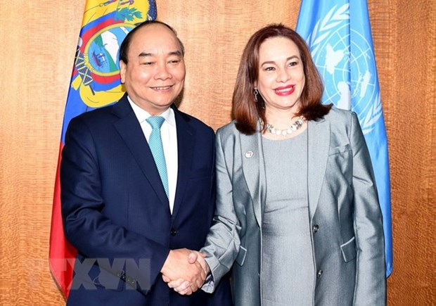 Prime Minister Nguyen Xuan Phuc meets with UN leaders hinh anh 1