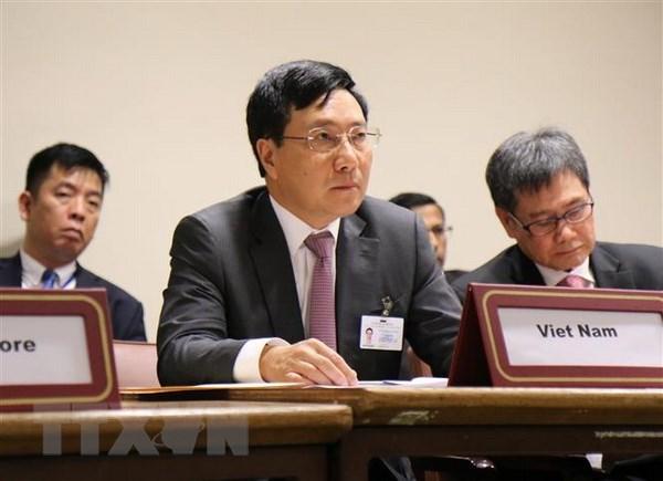 FM Pham Binh Minh co-chairs ASEAN-GCC ministerial meeting hinh anh 1