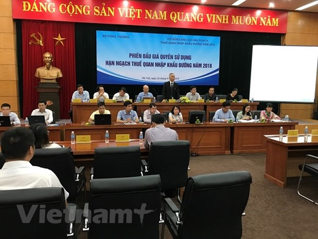Trade ministry holds sugar auction hinh anh 1