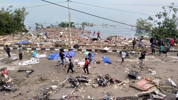 Indonesia: Death toll from earthquake, tsunami amounts to 384 hinh anh 1