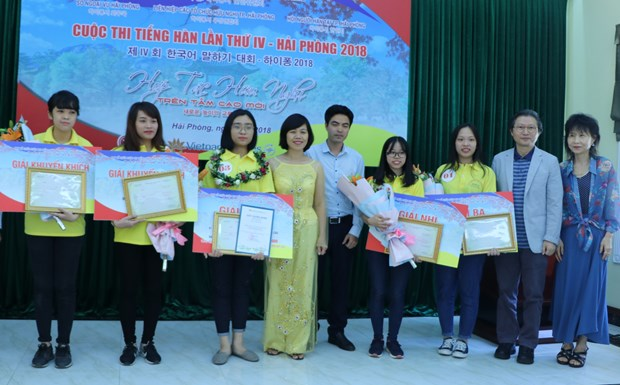 Korean language speaking contest launched in Hai Phong hinh anh 1