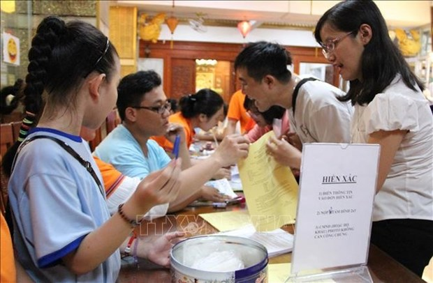 Almost 600 people register to donate organs hinh anh 1