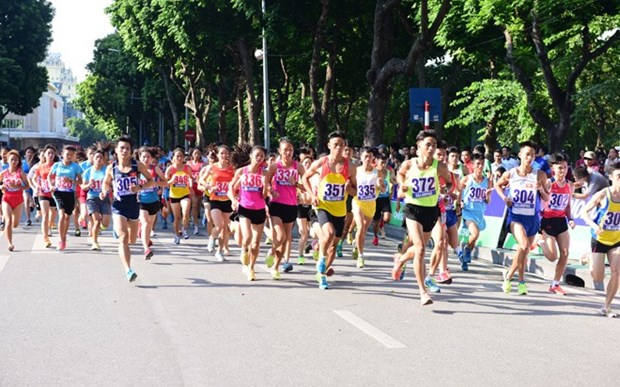 Luat of Border Guards team wins Hanoi Moi race hinh anh 1
