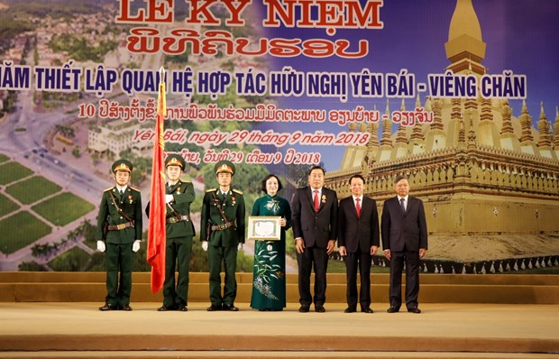 Yen Bai, Vientiane provinces mark 10 years of cooperation, friendship hinh anh 1