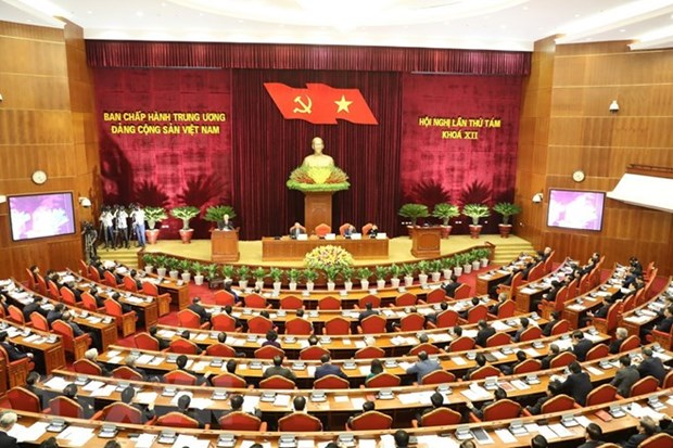 Party Central Committee's 8th session opens hinh anh 1