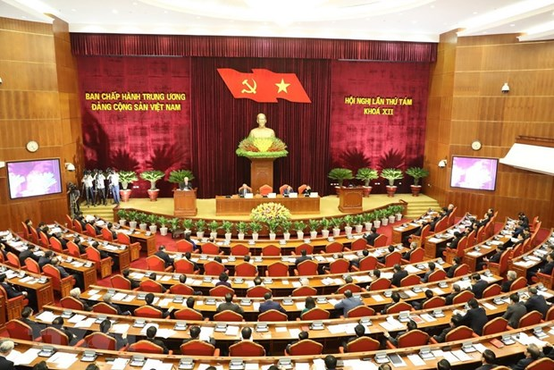 First working day of Party Central Committee's 8th plenum hinh anh 1