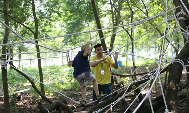 Children encouraged to join risky play hinh anh 1