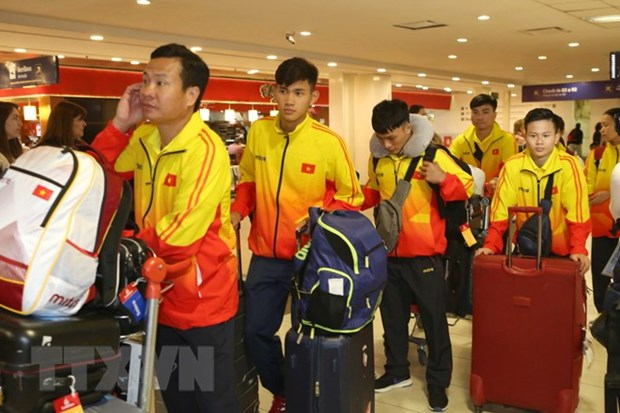Vietnamese delegation arrives in Argentina for 2018 Youth Olympics hinh anh 1