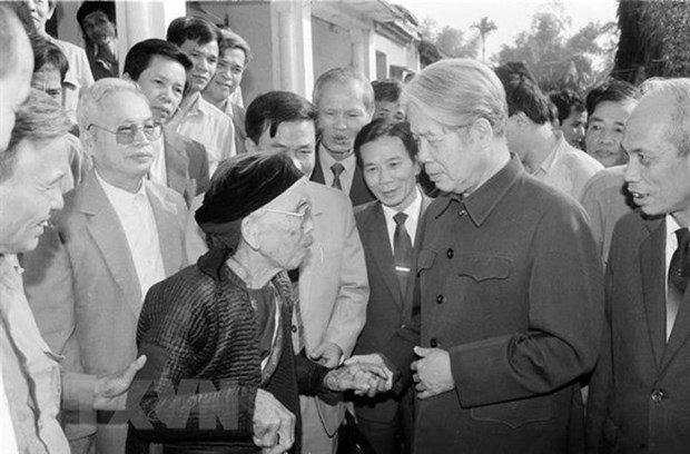 Do Muoi – talented leader, creative Party leader in renovation cause hinh anh 1