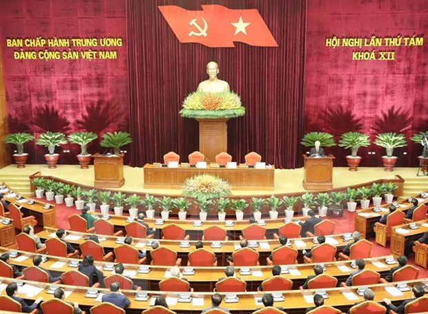 Party Central Committee's 8th plenum concludes hinh anh 1