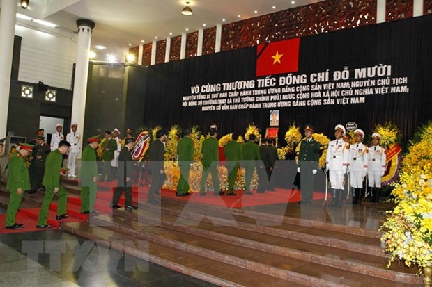 Foreign leaders send condolences over Do Muoi's passing hinh anh 1