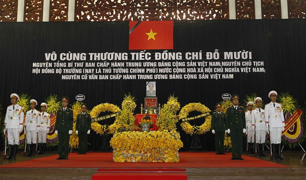 Memorial services for former Party General Secretary Do Muoi held in Hanoi, HCM City hinh anh 1