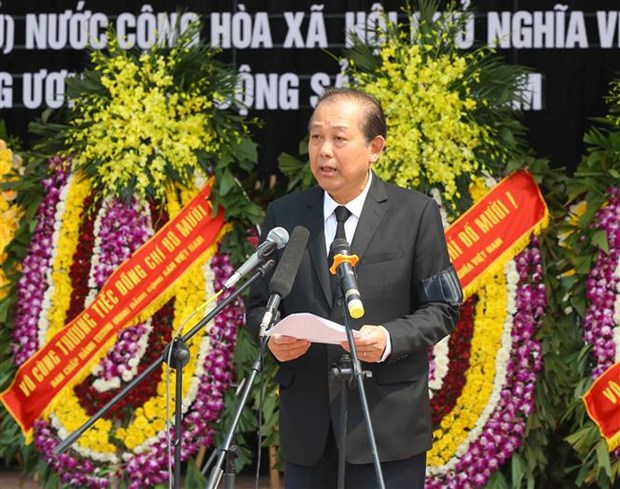 Funeral Board, family of former Party General Secretary offer thanks hinh anh 1