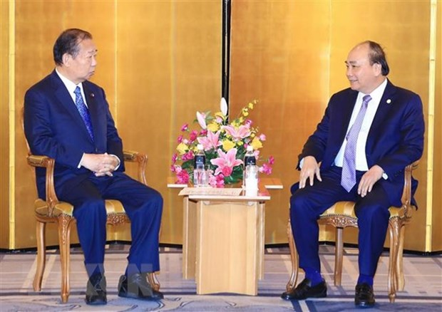 PM receives Japan-Vietnam Friendship Parliamentary Alliance Chairman hinh anh 1