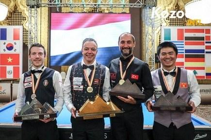 Vietnamese player wins bronze at world three-cushion champ hinh anh 1