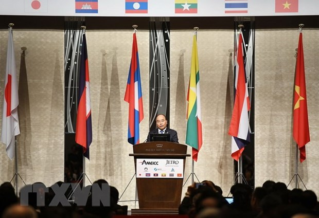 PM Nguyen Xuan Phuc attends Mekong-Japan business forum hinh anh 1