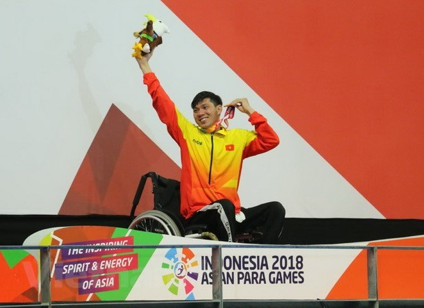 Asian Para Games 2018: Swimmer brings home another gold hinh anh 1
