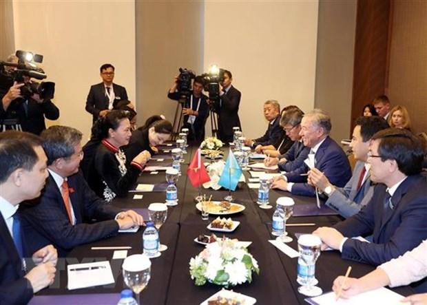 Top legislator meets Kazakh lower house chairman in Turkey hinh anh 1