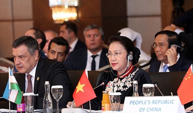 Speakers of Eurasian countries' parliaments wrap up meeting hinh anh 1