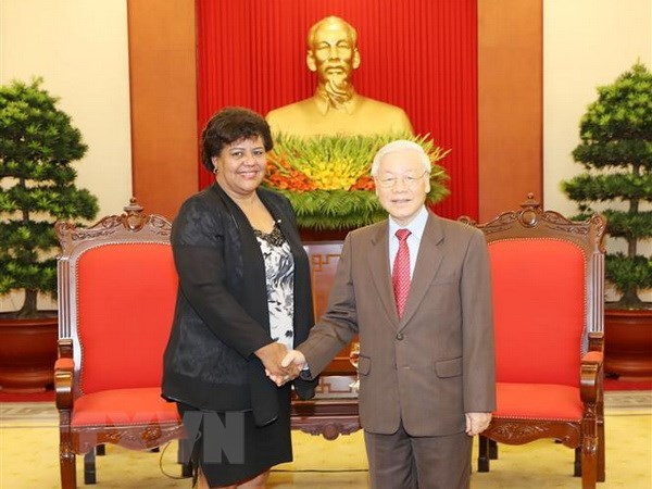 Party chief: Vietnam supports Cuba's revolutionary cause hinh anh 1