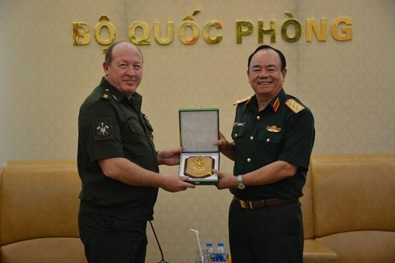 Vietnam, Russia tighten cooperation in peacekeeping activities hinh anh 1